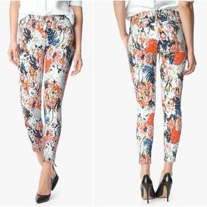 7 For All Mankind | The Ankle Skinny Floral Haze